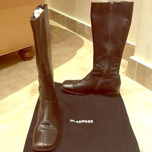 Jil Sander Size 36 Brown Leather Boots